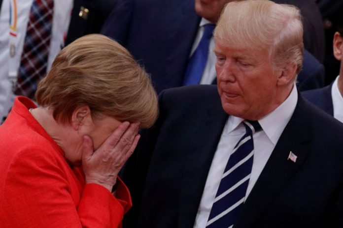 Angela Merkel et Donald Trump/DR