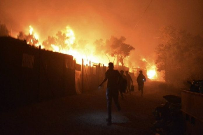 Moria en feu / Photo: Twitter
